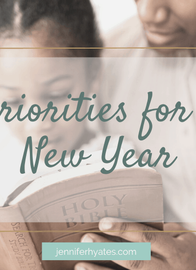 Priorities for a New Year