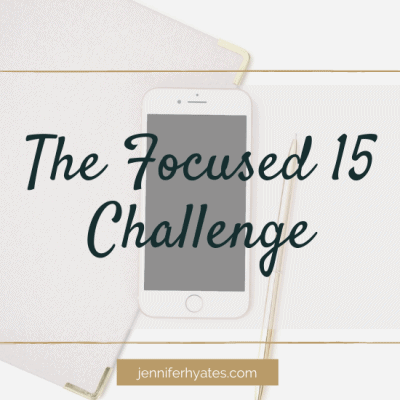 The FOCUSED 15 Challenge